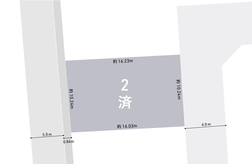 白山市相木町注文住宅用地 区画図