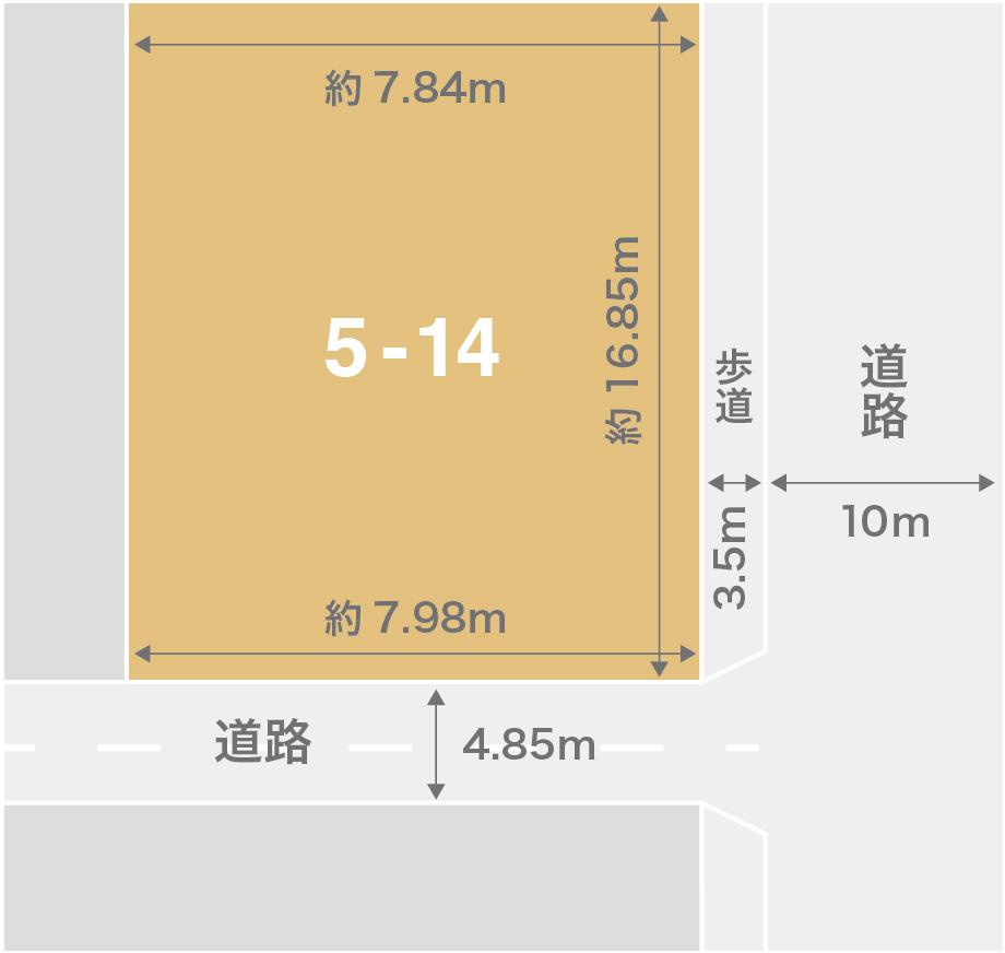 白山市蕪城注文住宅用地 区画図