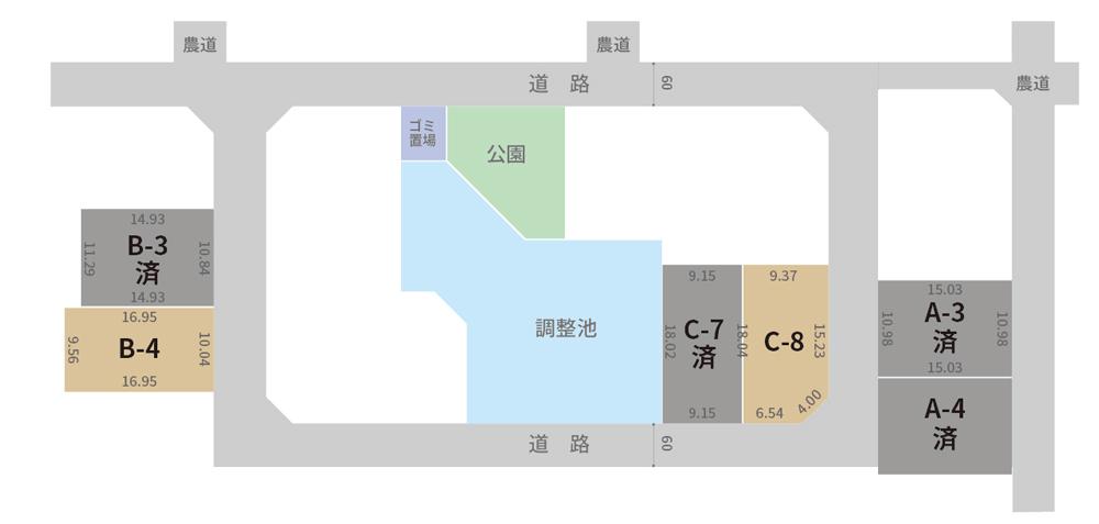 白山市平木注文住宅用地 区画図