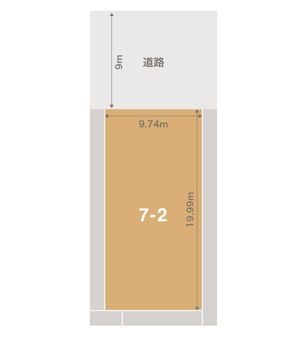 金沢市上荒屋注文住宅用地 区画図