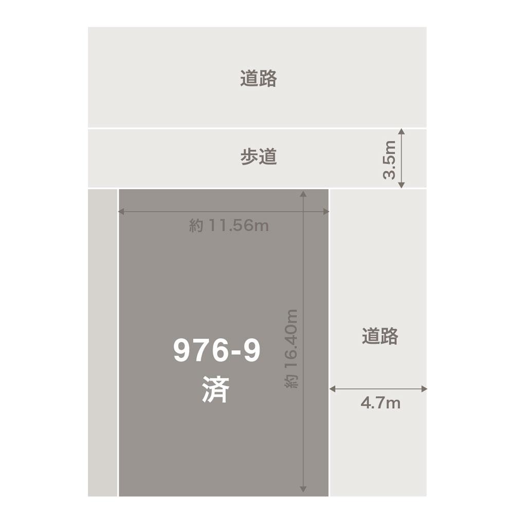 白山市北安田注文住宅用地 区画図