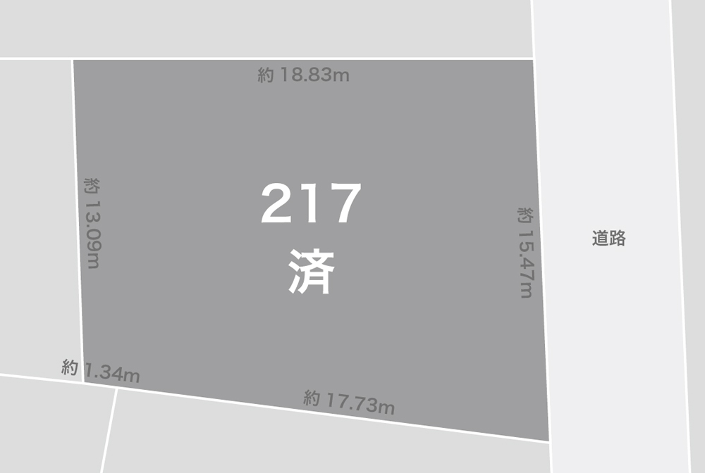 金沢市額新保注文住宅用地 区画図