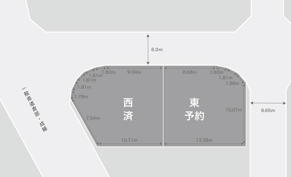 白山市新成注文住宅用地 区画図
