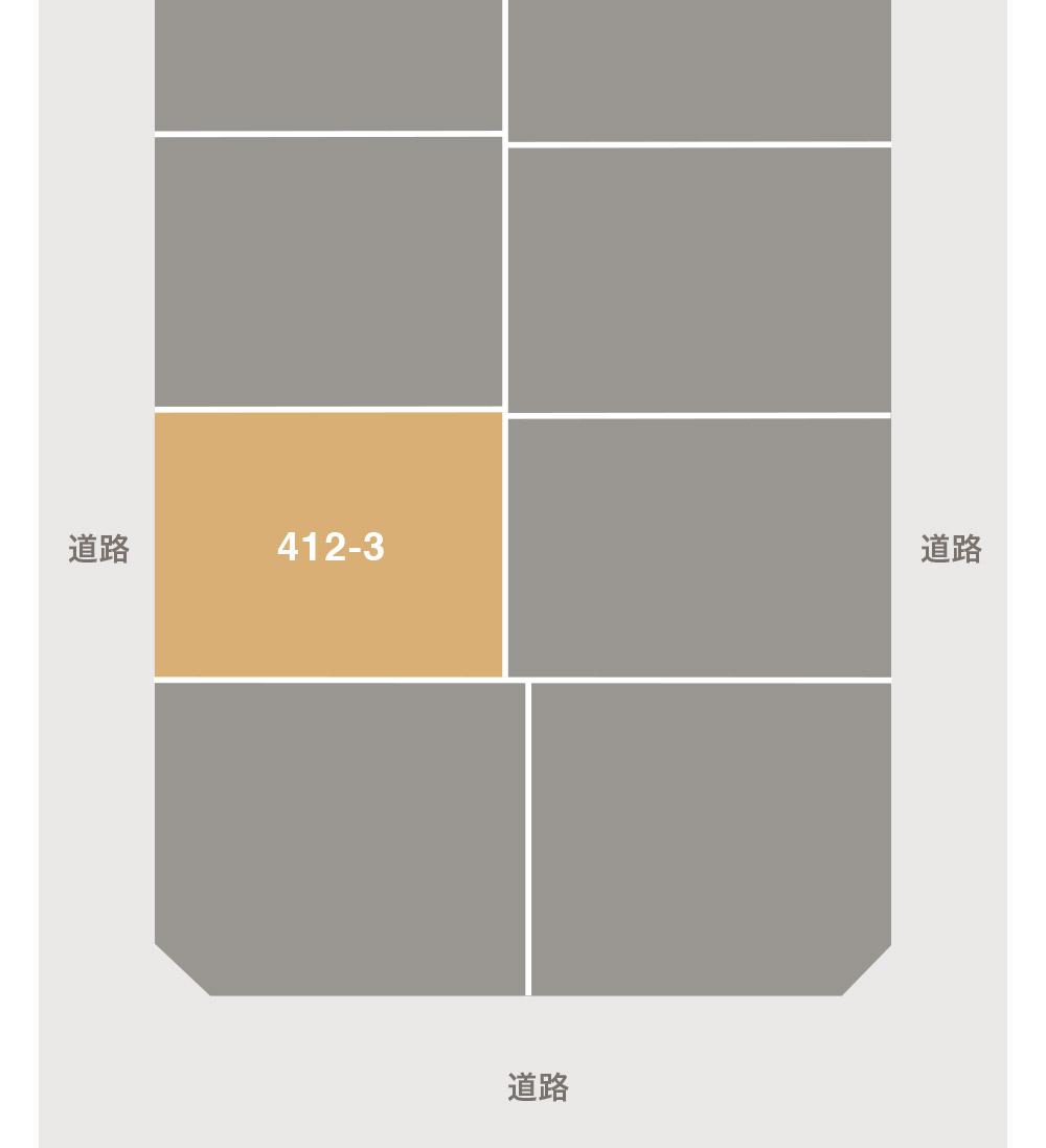 野々市市高橋町注文住宅用地 区画図