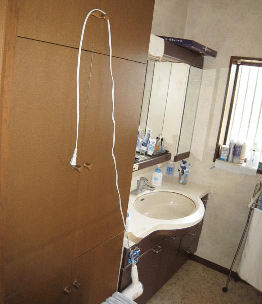 洗面・脱衣室(リフォーム前)