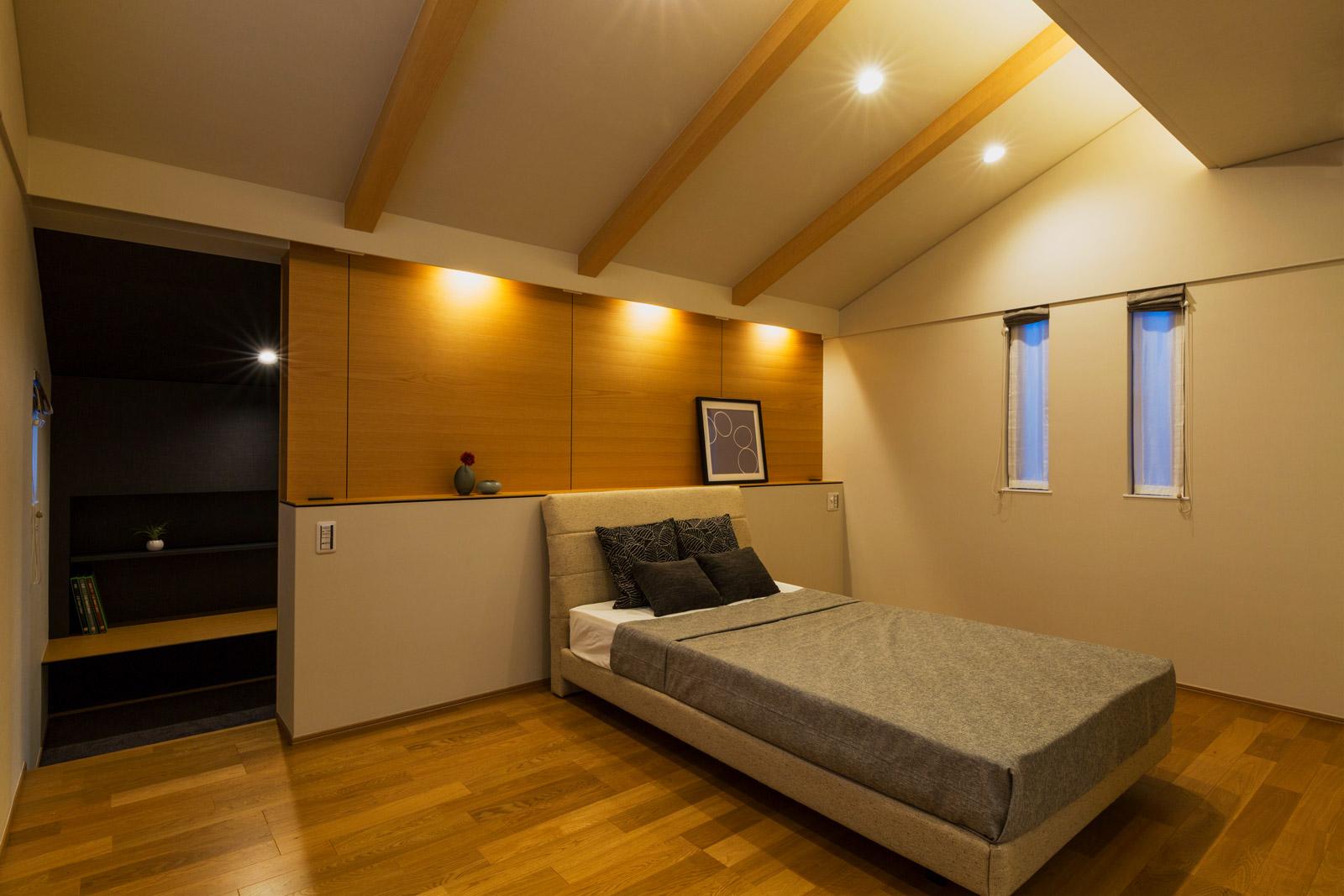 白山市S氏邸/寝室